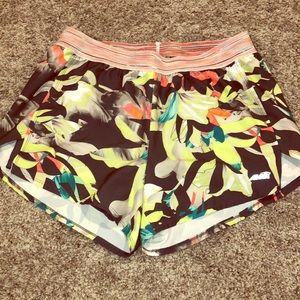Avia Gray Tropical Print Workout Shorts